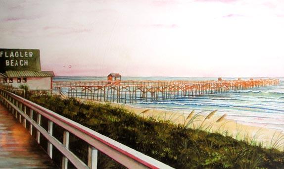 Toni - Artist / Flagler Beach Pier at Dawn