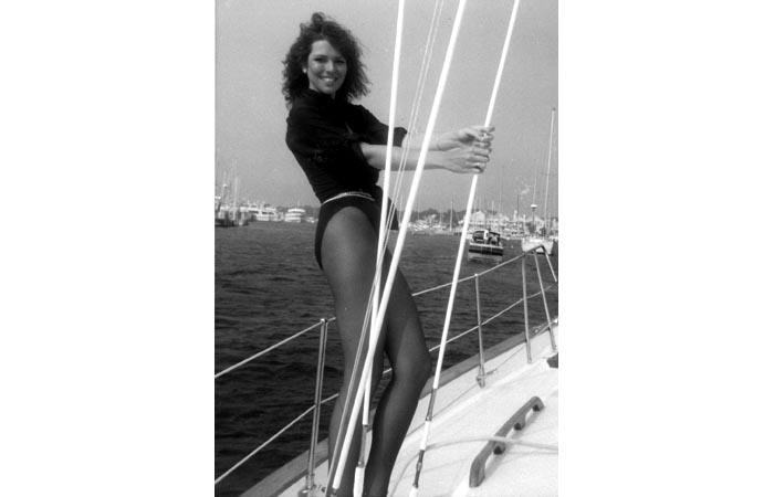 Toni - 1980's Modeling Promo shot on Sailboat