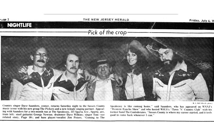 Toni - 1980's News Article Dave Saunders Band