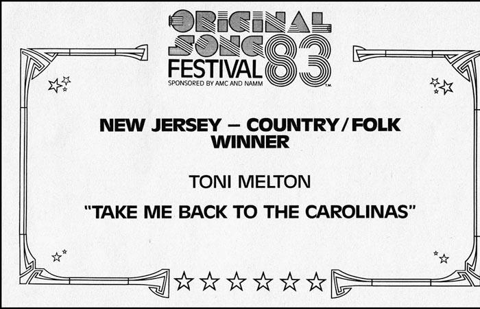 Toni - Winner Song Fest 1983