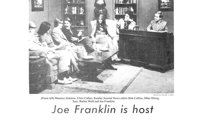 Toni on the Joe Franklin Show - 1970's