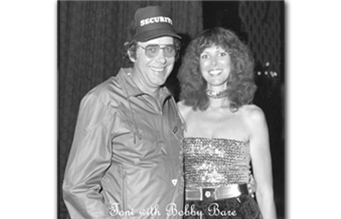 Toni - Posing with Bobby Bare during Record Release Party 1980's