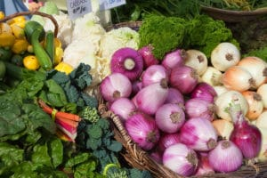 Mixed vegetables at the farmers market