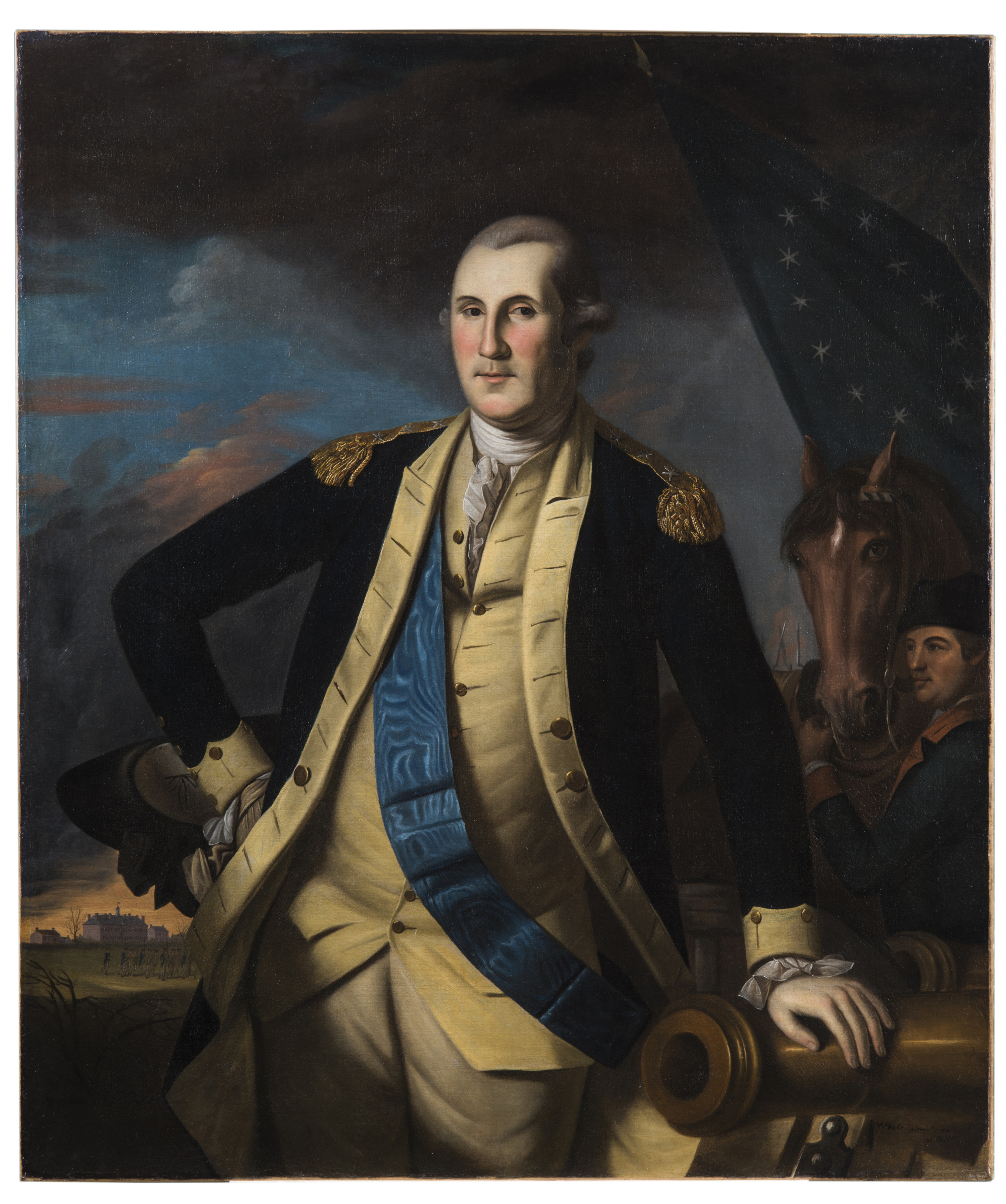 GEORGE WASHINGTON BATTLE OF PRINCETON PAINTING REVOLUTION WAR ART CANVASPRINT
