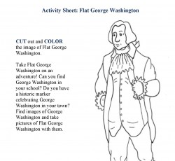 Flat George Washington This Cut And Color Activity Sheet