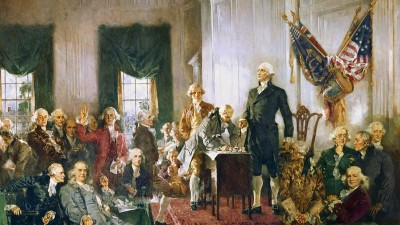 Washington was the first to sign the Constitution.