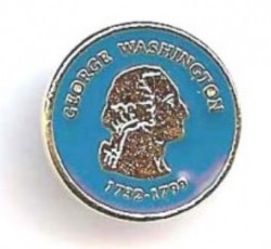 George Washington Reading Pin