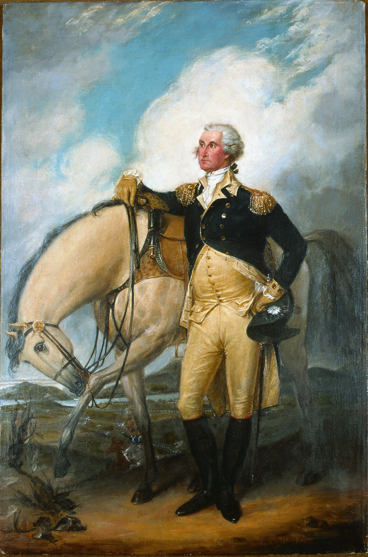an analysis of the characteristics of the paintings of george washington George washington (lansdowne portrait of george washington)  to german town with mrs washington to see mr stuarts paintings  description and analysis.