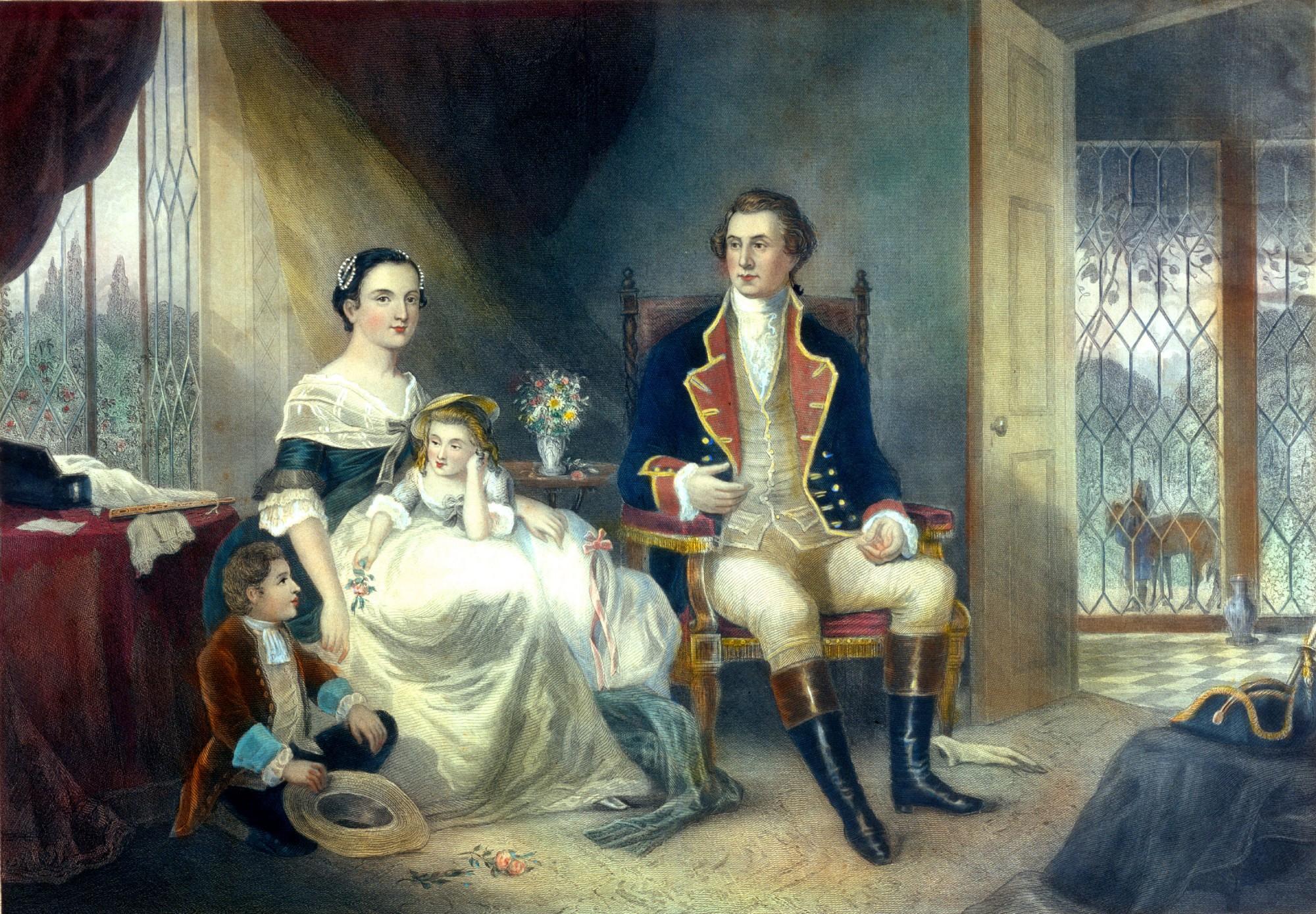 how did martha washington and george meet