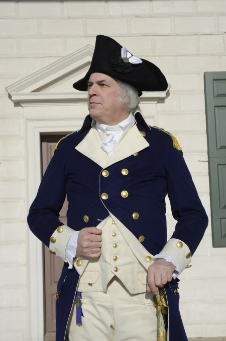 George Washington as portrayed by Dean Malissa at Mount Vernon