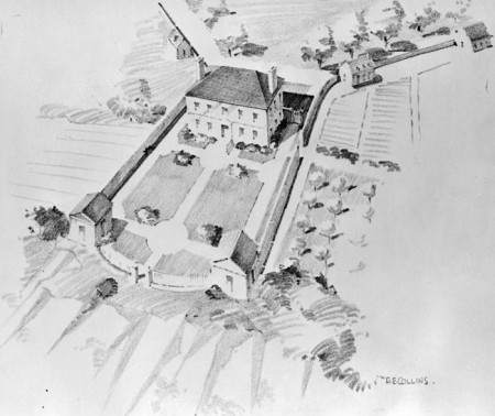 Artist's rendering of the Belvoir Mansion