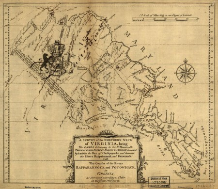 Map of the Northern Neck Land Grant