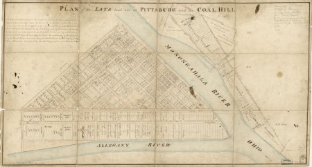 Plan of the lots laid out at Pittsburgh and the Coal Hill, 1787