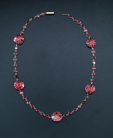 Garnet necklace [W-2212] Gift of Barnaby Conrad, 1989