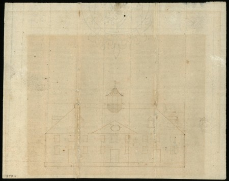 West Elevation Plan of Mount Vernon, c. 1774, George Washington, MVLA.