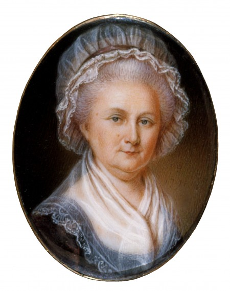 Portrait of Martha Washington, By James Peale, 1796, MVLA.