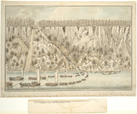 Landing of British Forces near Fort Lee