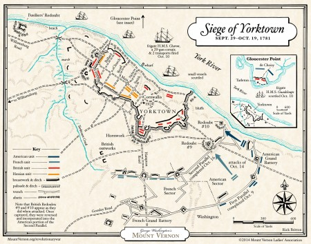 Map of the Siege of Yorktown