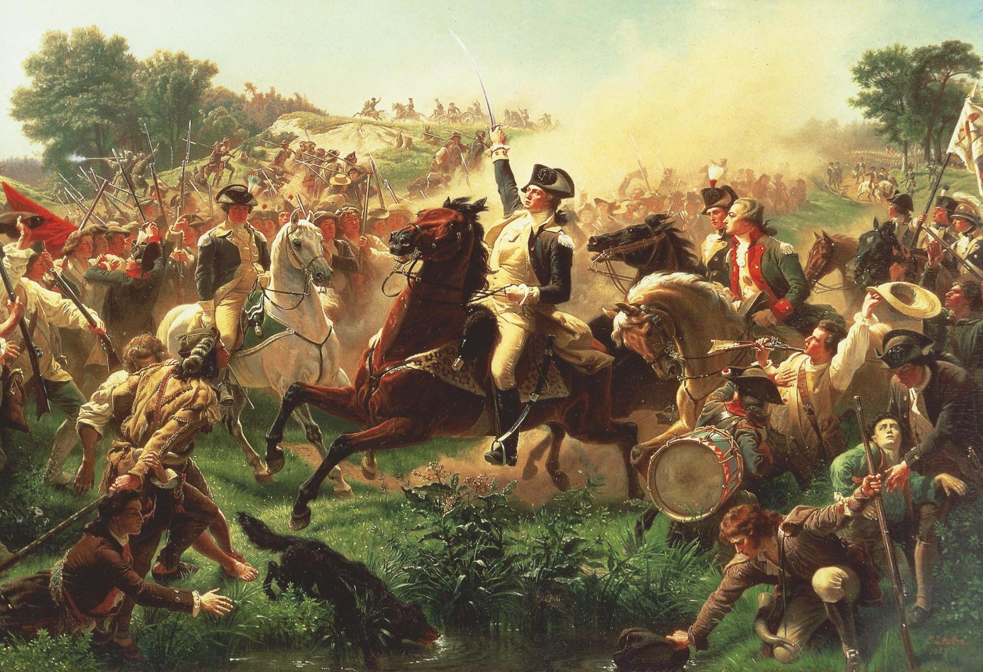 Battle Of Long Island Clinton Fighting