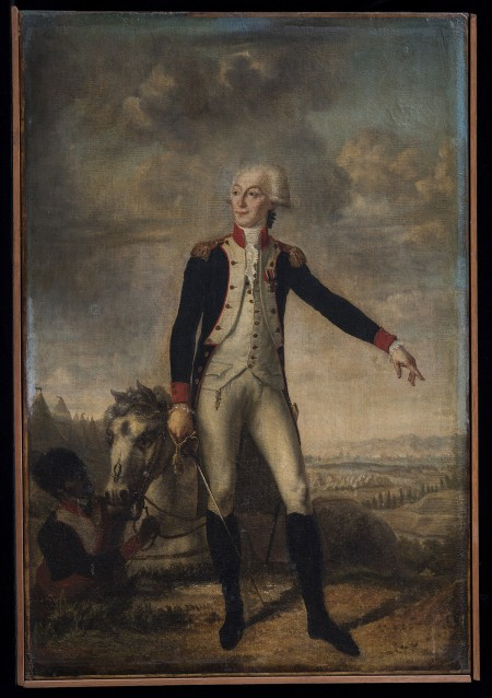 An aide to George Washington and ardent abolitionist, the Marquis de Lafayette likely influenced the general's views on slavery during the American Revolution. Portrait of the Marquis de Lafayette, possibly painted by Joseph Boze, ca. 1780-1790.