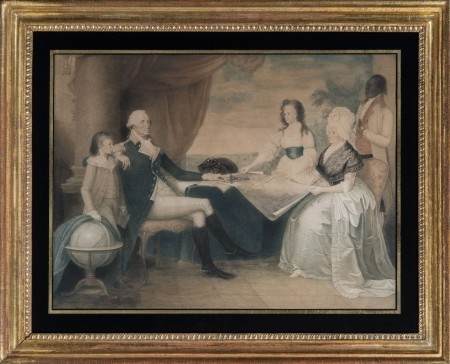The Washington Family / La Famille de Washington by Edward Savage in 1798. [W-5298]