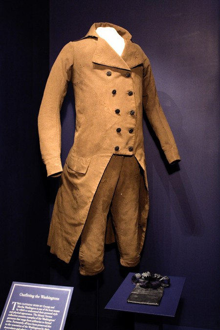 Washington's inaugural suit can be seen on display in the Donald W. Reynolds Museum at Mount Vernon