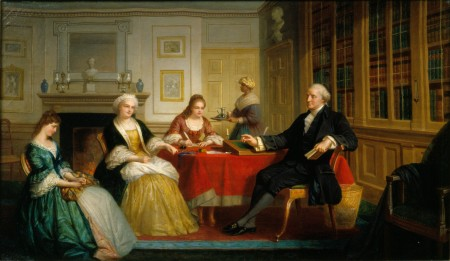 George Washington and Family by Thomas Pritchard Rossiter, 1858-1860. Gift of Nanine Hilliard Greene, 2000 [H-4173].