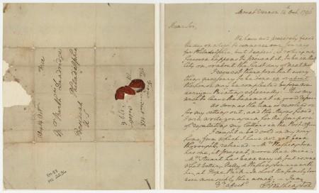 George Washington to Bartholomew Dandridge, Jr., 14 October 1796 (Mount Vernon Ladies' Association)