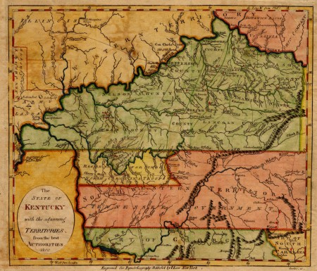 The new states of Kentucky and Tennessee circa 1800 (Library of Congress)