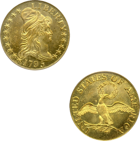 US Half-Eagle coin from 1795 (Wikimedia Commons)