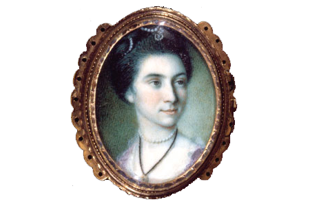 Martha Parke Custis in miniature by Charles Willson Peale