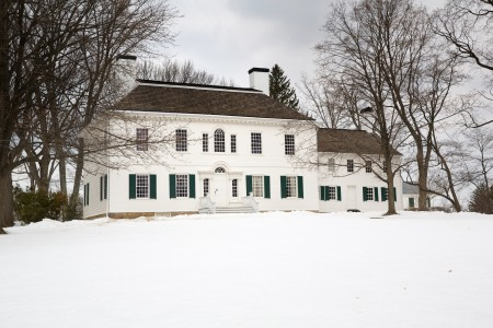 George and Martha Washington stayed at the Ford Mansion in Morristown, New Jersey during the winter encampment in 1779 (MVLA)