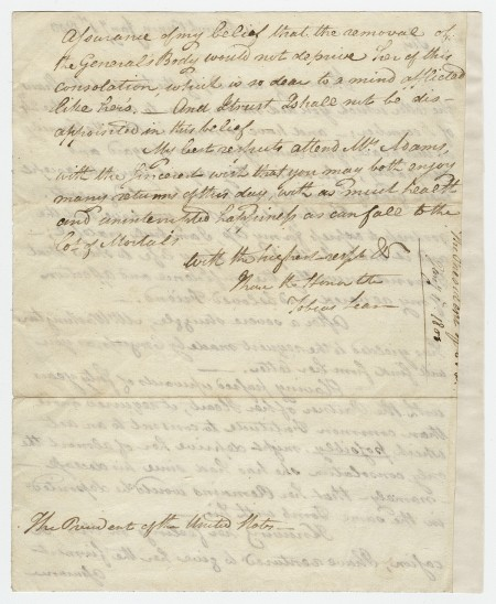 Tobias Lear to President Adams, January 1, 1800 (page 2)
