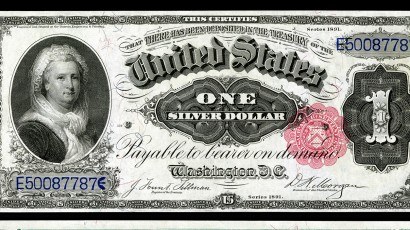 The Martha Washington Silver Certificate