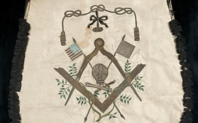 George Washingtons Masonic Apron On View George Washingtons