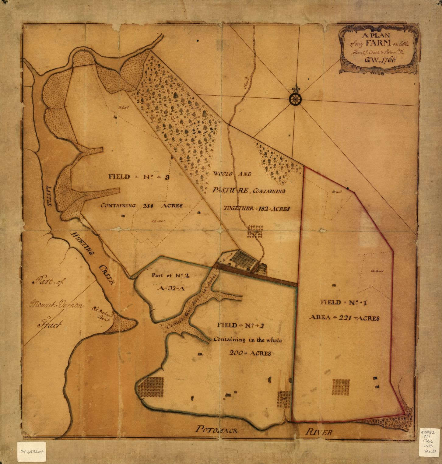 Little Hunting Creek Map · George Washington's Mount Vernon