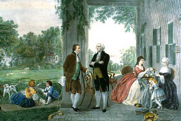 The General Briefly Visits Home at Mount Vernon