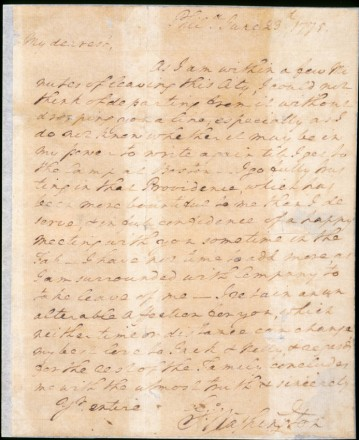 A Love Letter from George Washington