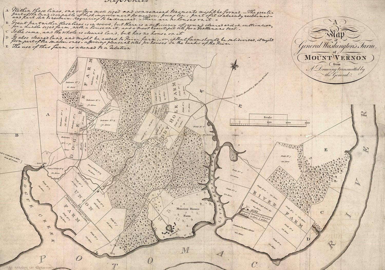 Mount Vernon Map Washington's Mount Vernon Farms · George Washington's Mount Vernon Mount Vernon Map