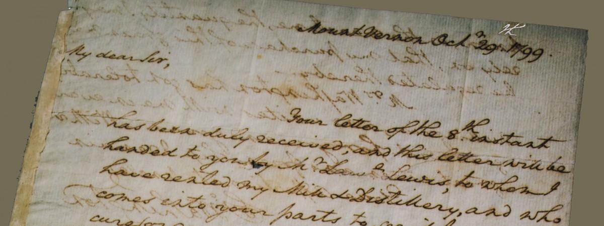 Primary Sources George Washington S Mount Vernon