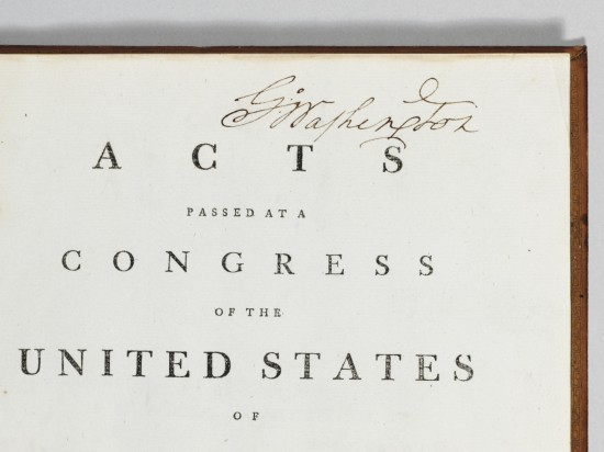 Washington acquires his copy of the Acts