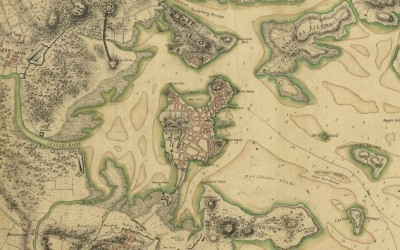 Boston, its environs and harbor, with the rebels works raised against that town in 1775