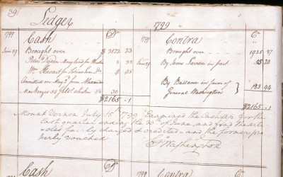 Ledger from Washington's distillery