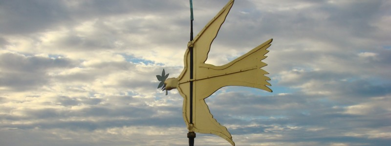 The Dove of Peace weathervane is added