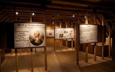 Upstairs exhibits