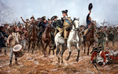Washington at the Battle of Princeton, 1777 by Don Troiani