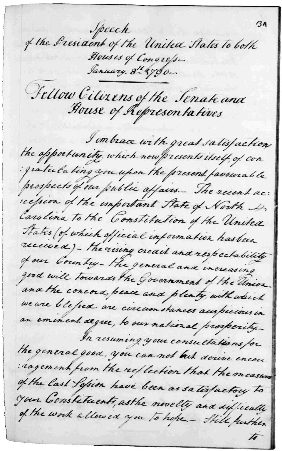 State Of The Union Address George Washingtons Mount Vernon