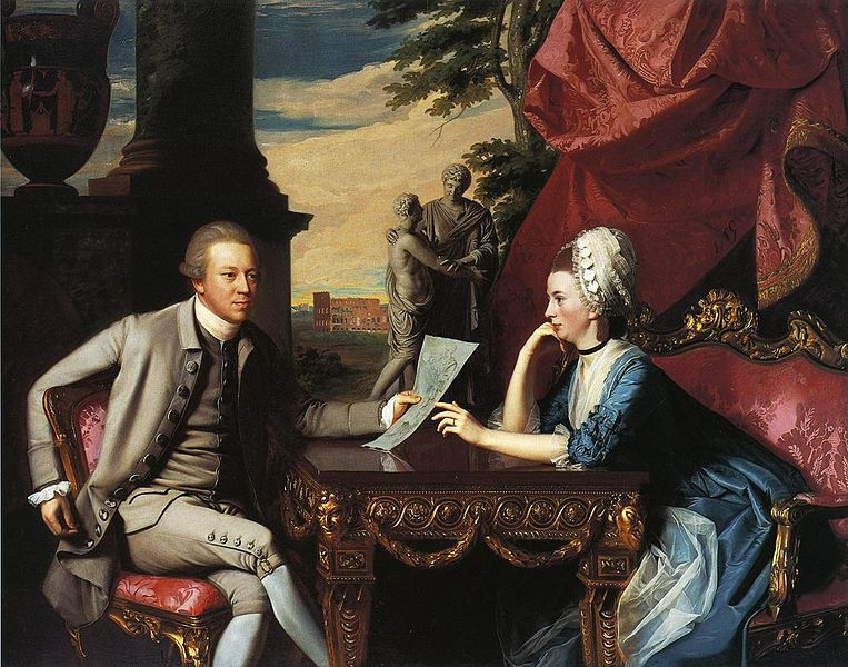 """Mr. and Mrs. Ralph Izard (Alice Delancey) by John Singleton Copley © The Athenaeum."