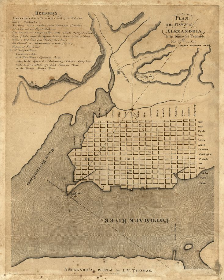 A plan of Alexandria, 1798. Library of Congress G3884.A3 1798 .G5
