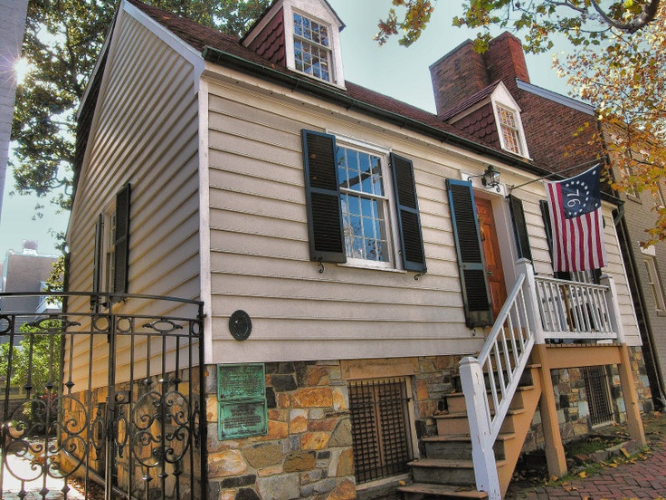Reconstructed House on the Original Location of George Washington's Alexandria Townhome, now a private residence.